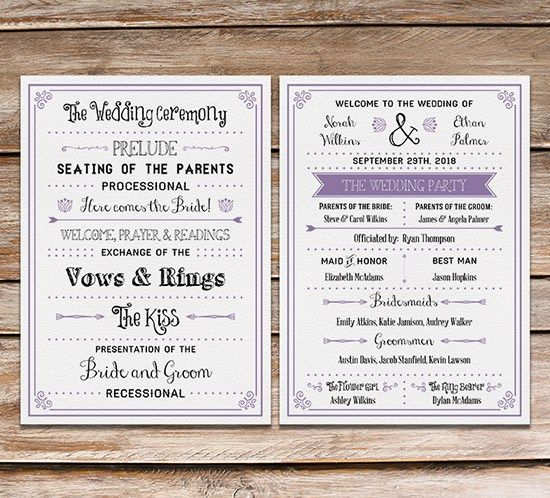 Free Printable Wedding Program Jenna S Wedding Wedding Wedding