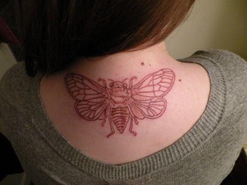 Bee Tattoo Brown Ink Bee Tattoo Tattoos Tats Tattoos