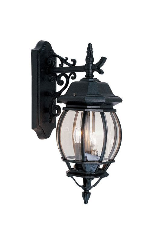 Livex Lighting 7707 Frontenac 3 Light Outdoor Wall Sconce Black Sconces