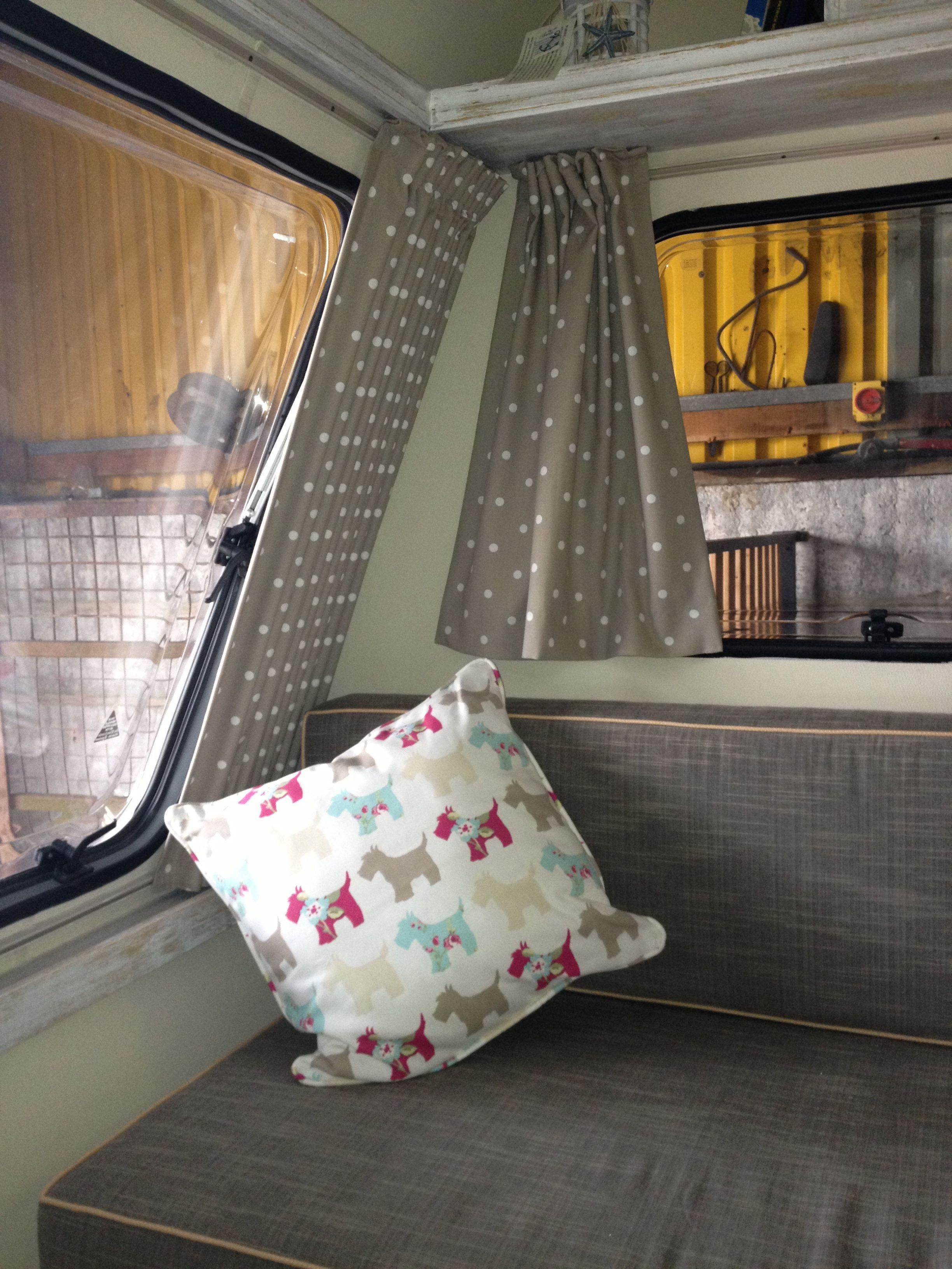 Curtains Now In Caravan Revamp Camper Curtains Rv Curtains Campervan Curtains