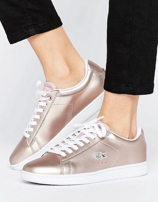 9c83b8a9481e Lacoste Carnaby Evo Rose Gold Sneakers Basket Ballerine