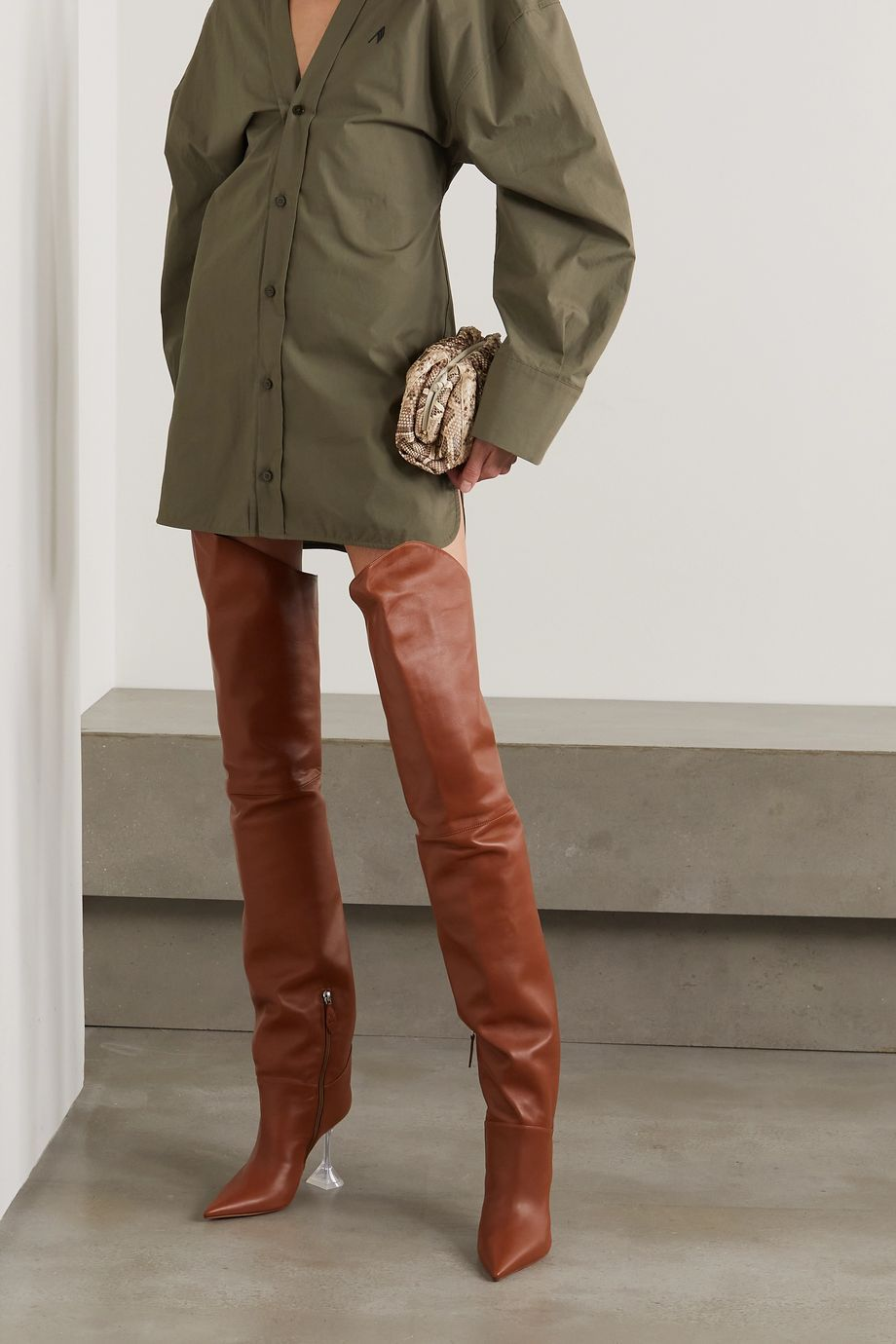 Pin on Thigh high boots