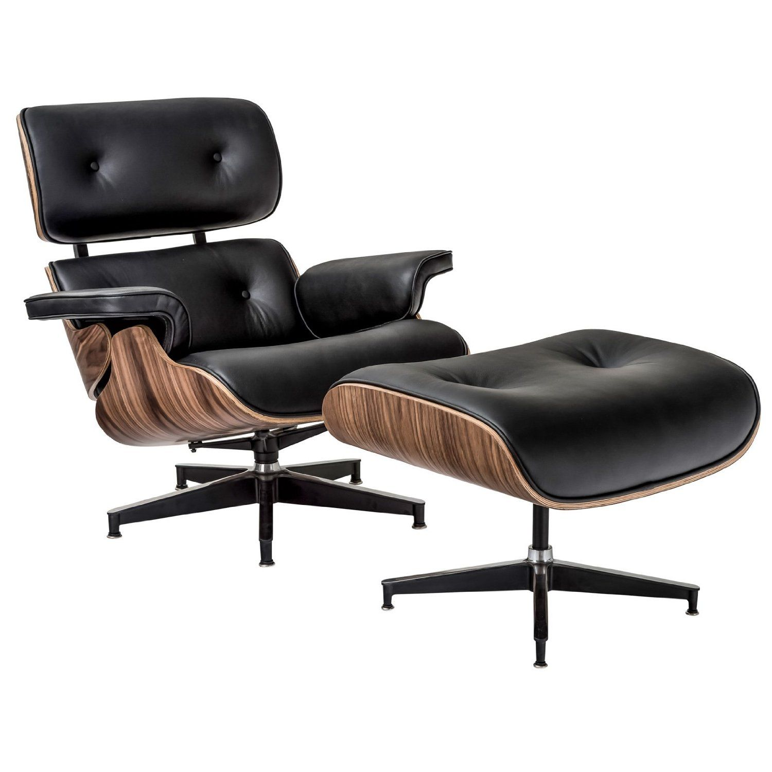 Amazon Com Poly And Bark Eames Style Lounge Chair And Ottoman In
