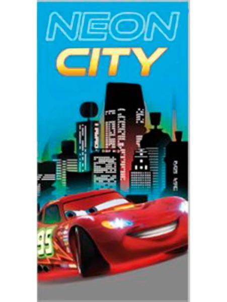 Autot, Neon City -pyyhe Kuivaa itsesi salamannopeasti tähän upeaan pyyhkeeseen. Mitat: 70 x 140 cm. 100 % puuvillaa. Pesu 60 asteessa.