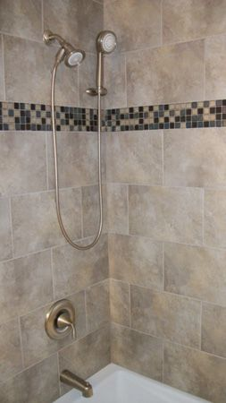 Pin By Barbara Delegato On Favorite Places Spaces Shower Tub Bathroom Redo Shower Surround