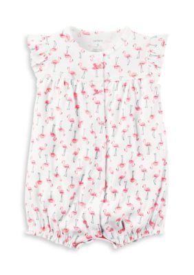 7efc4142b8dc Carter s® Pink Flamingo Snap-Up Romper