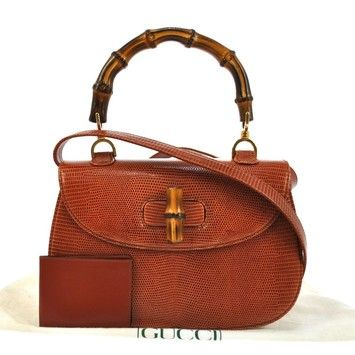 Gucci Bamboo 2way Hand Lizard Leather Italy Vintage Shoulder Bag. Get one  of the hottest styles of the season! The Gucci Bamboo 2way Hand Lizard  Leather ... aea365b327e6f