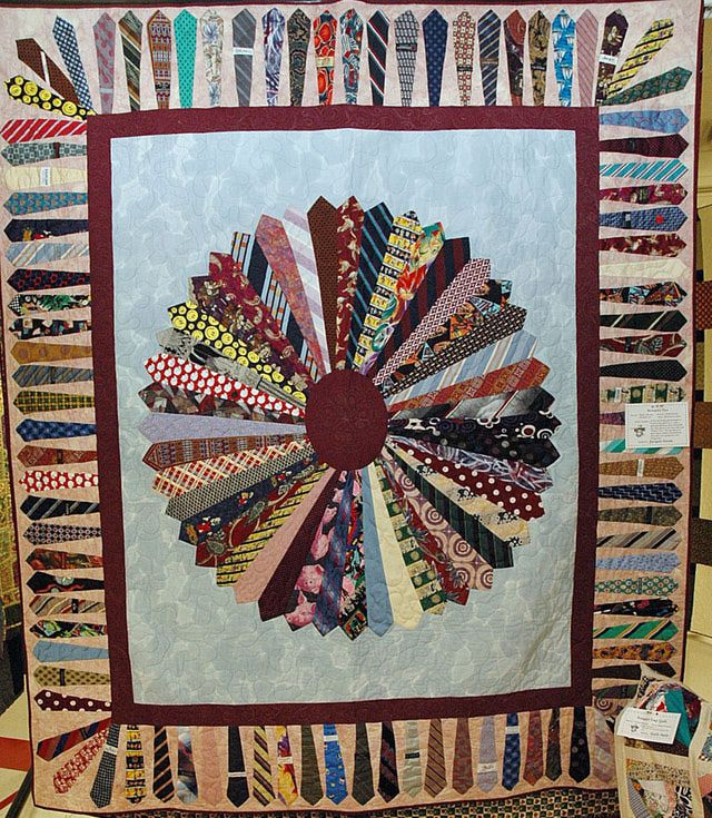 Theme and Pictorial Quilts Photo Gallery | Necktie quilt, Tie ... : pictorial quilt patterns - Adamdwight.com