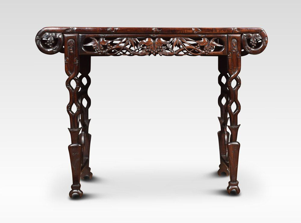 Chinese Carved Rosewood Alter Table In 2019 Antique