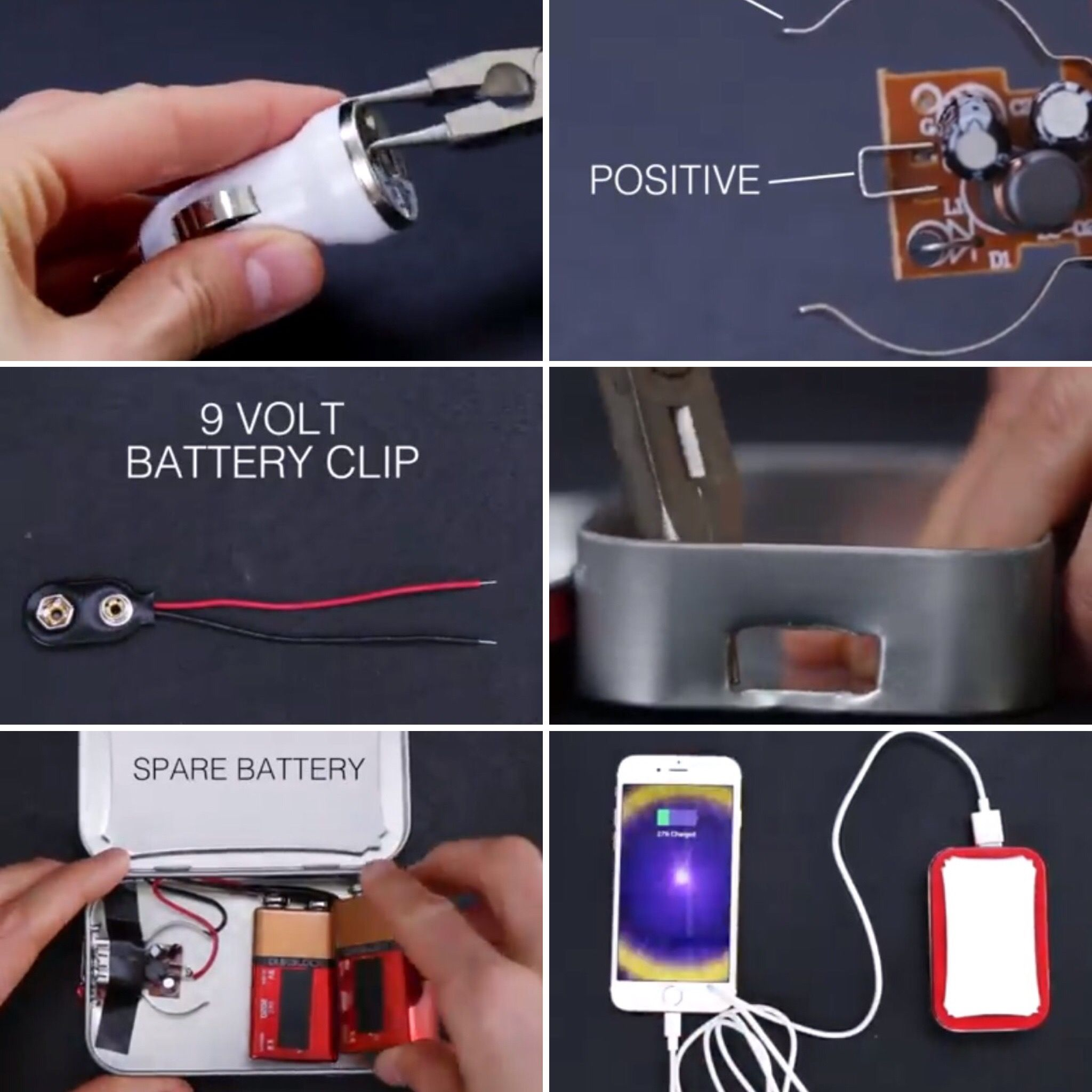 DIY portable cell phone charger