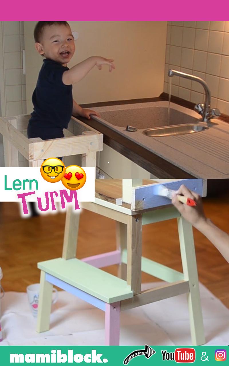 Das genialste Möbelstück für Kinder: DIY Lernturm selbst bauen