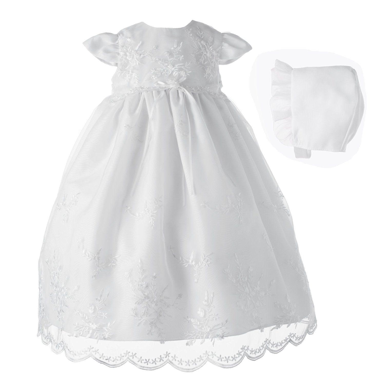 Amazon.com: Lauren Madison Baby-Girls Newborn Organza Floral ...