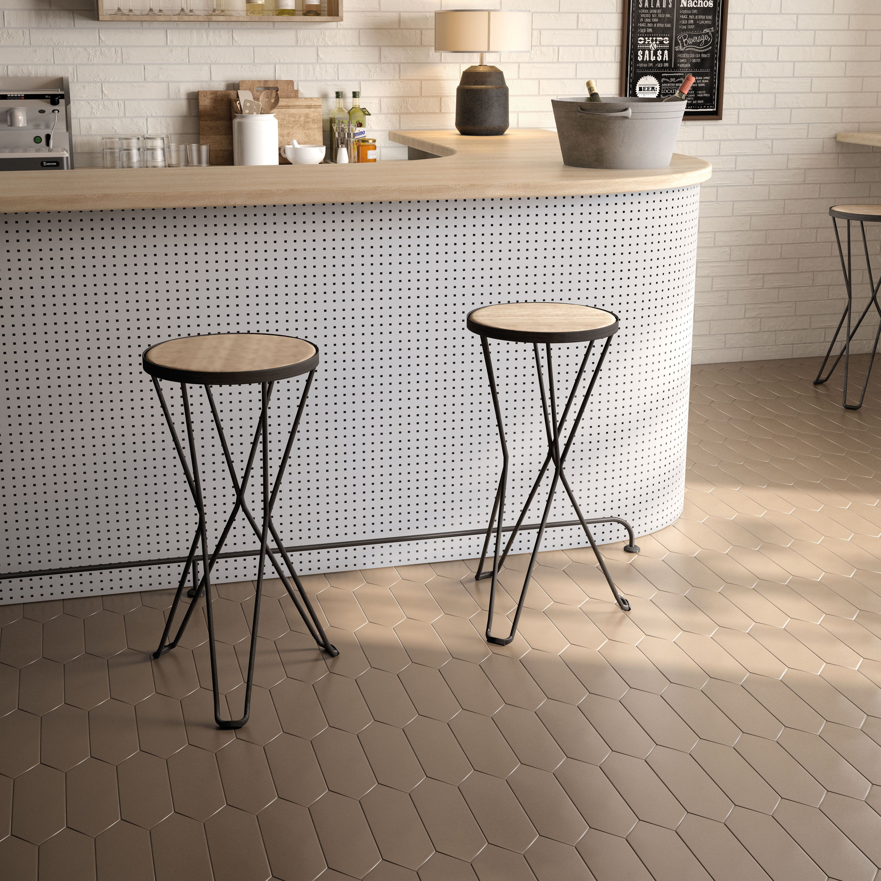 SomerTile 4x11.75-inch Cometa Taupe Porcelain Floor and Wall Tile ...