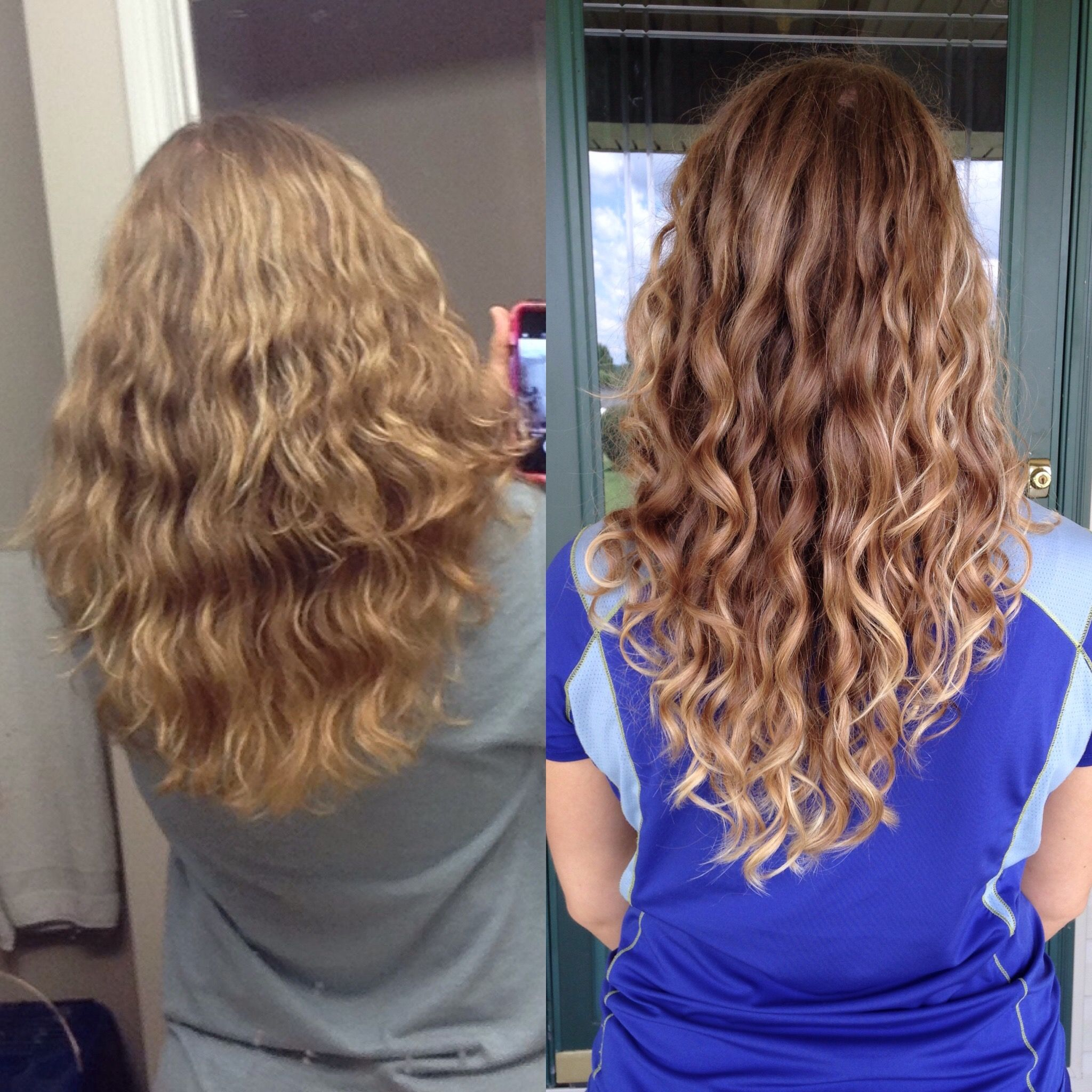 Curly Girl Method Before And After Curly Girl Method Permed Hairstyles Curly Girl