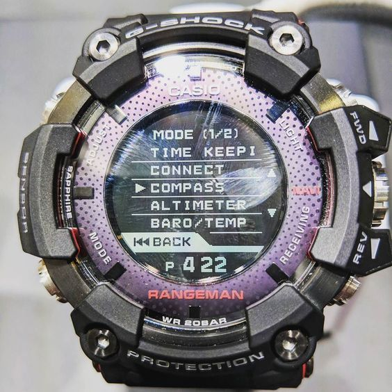 ad4f35cb174 And of course it s shock dust mud and water resistant and can be controlled  through a connected smartphone app.  ces2018  smartwatch  gshock