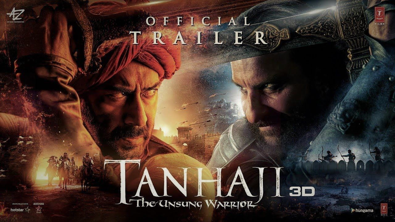 tanhaji The Unsung x warrior Official Trailer 3D x