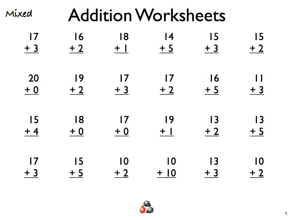 Free Printable Math Pages For 1st Graders