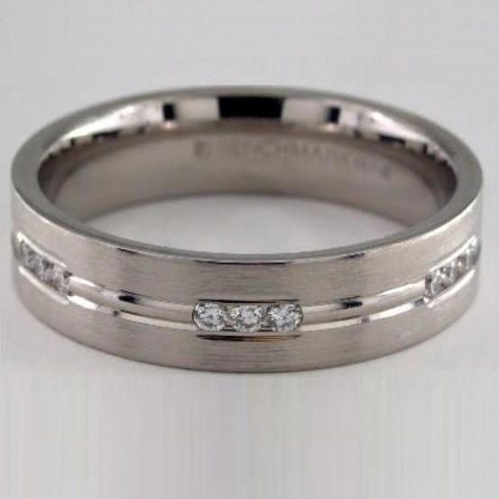 14k White Gold 6mm Etched Channel Set Diamond Wedding Ring Designed By James Allen Diamondweddingbands