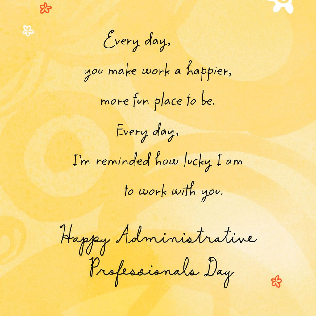 Lucky To Work With You Administrative Professionals Day Card In 2021 Administrative Professional Day Administrative Assistant Gifts Administrative Professional