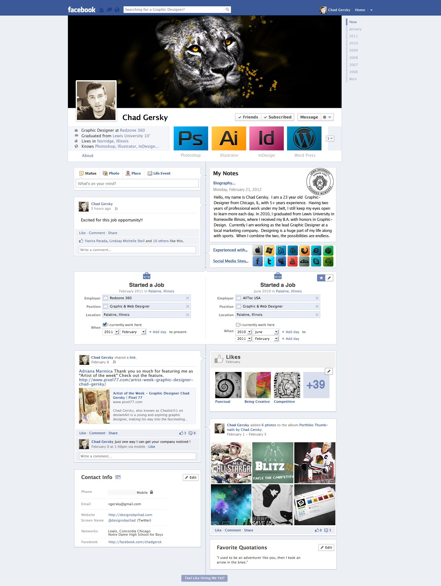 Facebook ResumeCv By ChadskiDeviantartCom On Deviantart
