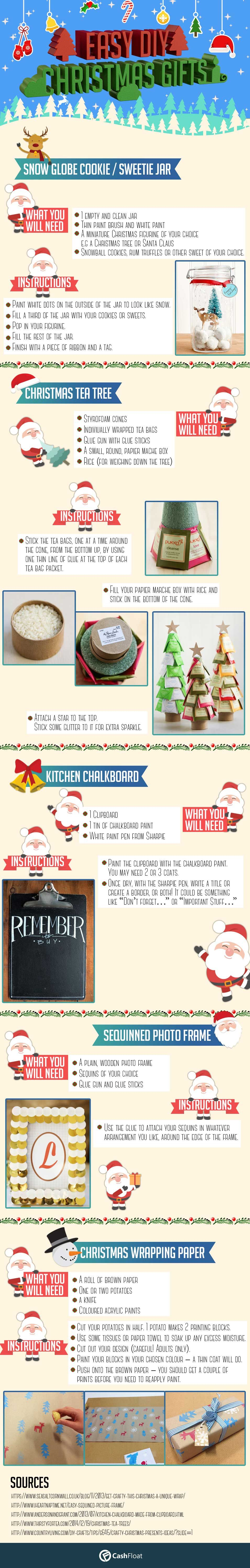 5 Easy DIY Christmas Gifts to Make Crafts for Adults