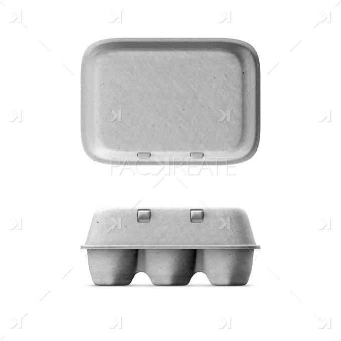 Egg Box Grey Natural Card Smart Label Egg Box Packaging