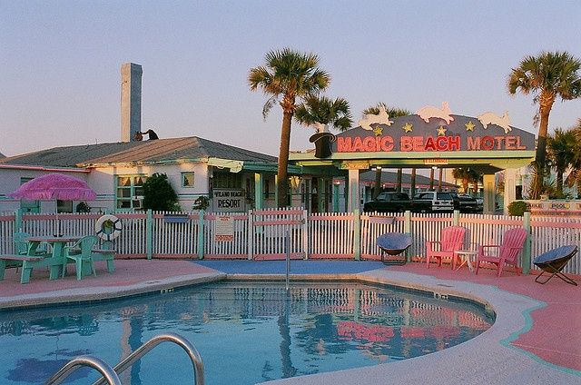The Adorably Kitschy Magic Beach Motel Just Outside St Augustine Florida