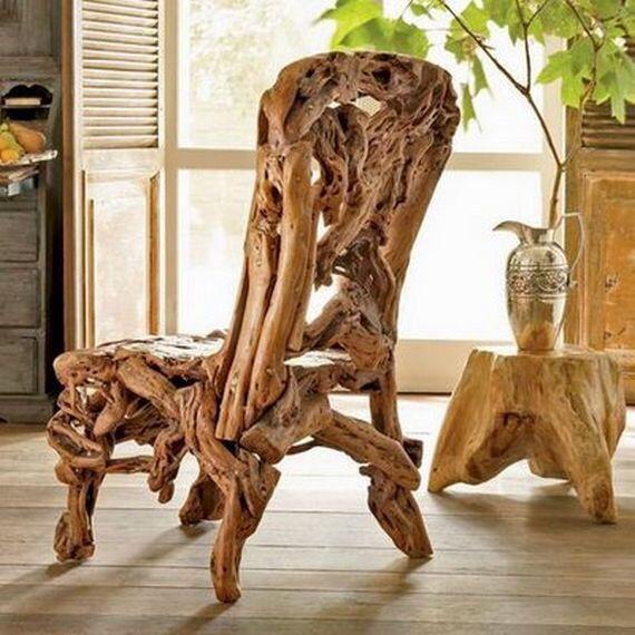 Chaise en bois flottant bois en 2019 artisanat de bois flott chaises bois et projets de - Chaise bois flotte ...