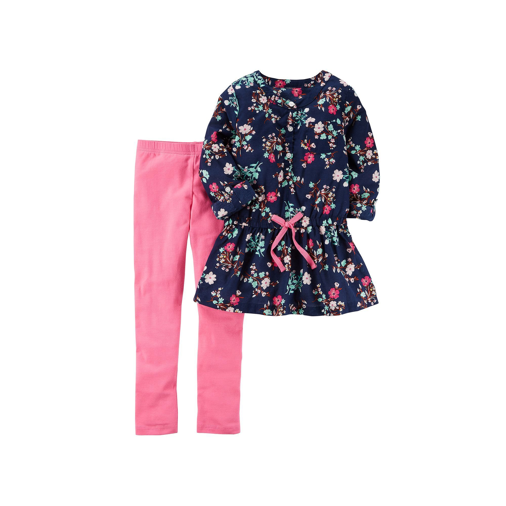 Girls 4 8 Carter s Floral Baby Doll Top & Solid Leggings Size 6X