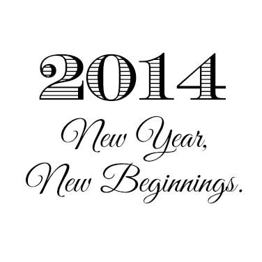 2014 new year new beginnings