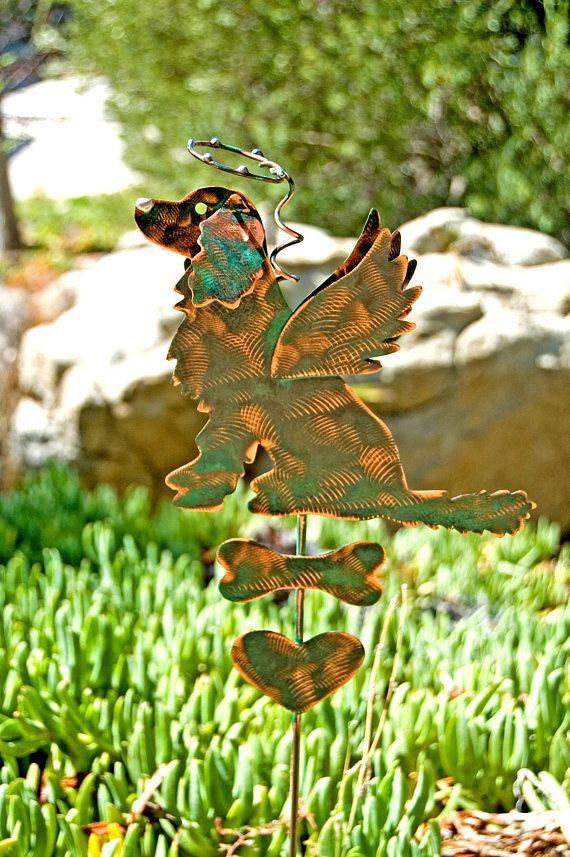 Golden Retriever Metal Garden Art Pet Memorial Garden Stake,Yard Art