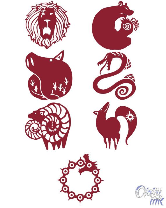 The Seven Deadly Sins Cosplay Temporary Tattoos By Otaku
