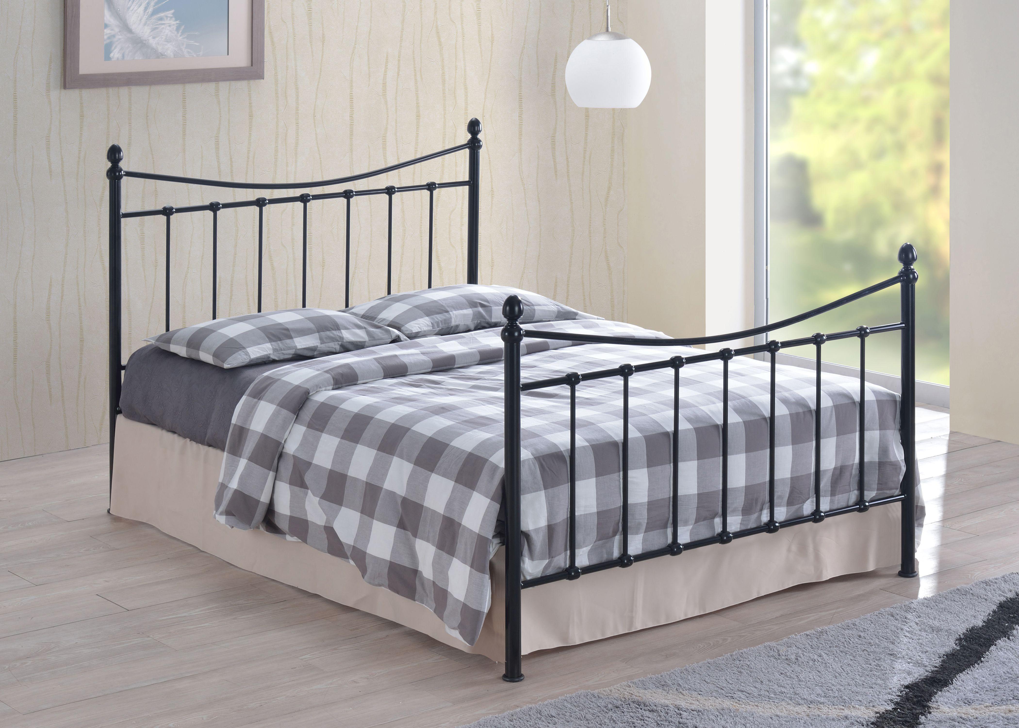 Alderley Bed Metal bed frame, King size bed frame, Bed sizes