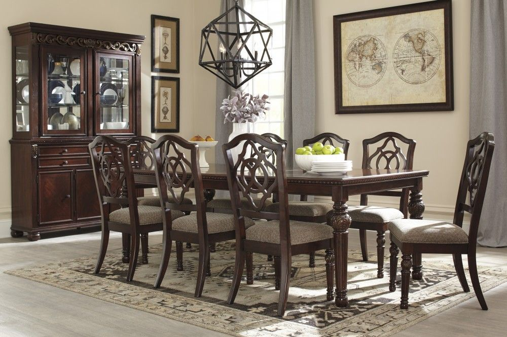 Leahlyn RECT Dining Room EXT Table & 8 UPH Side Chairs