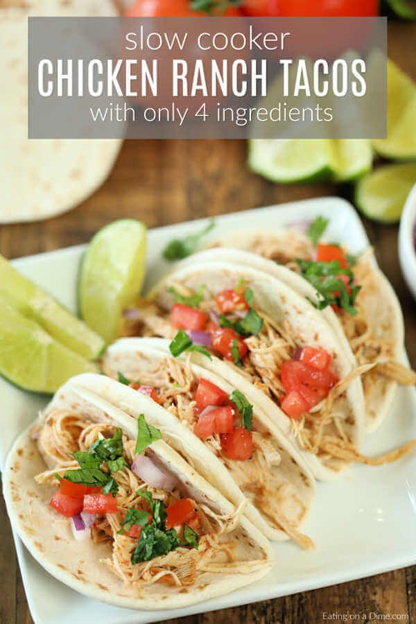 Crock pot Chicken Ranch Tacos images