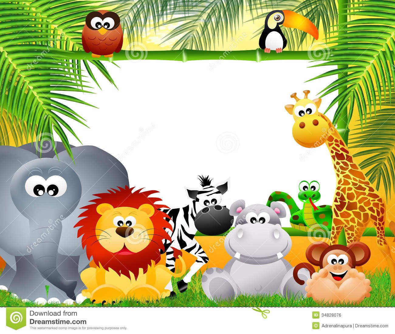 Zoo Animals Cartoon Royalty Free Stock Image Image