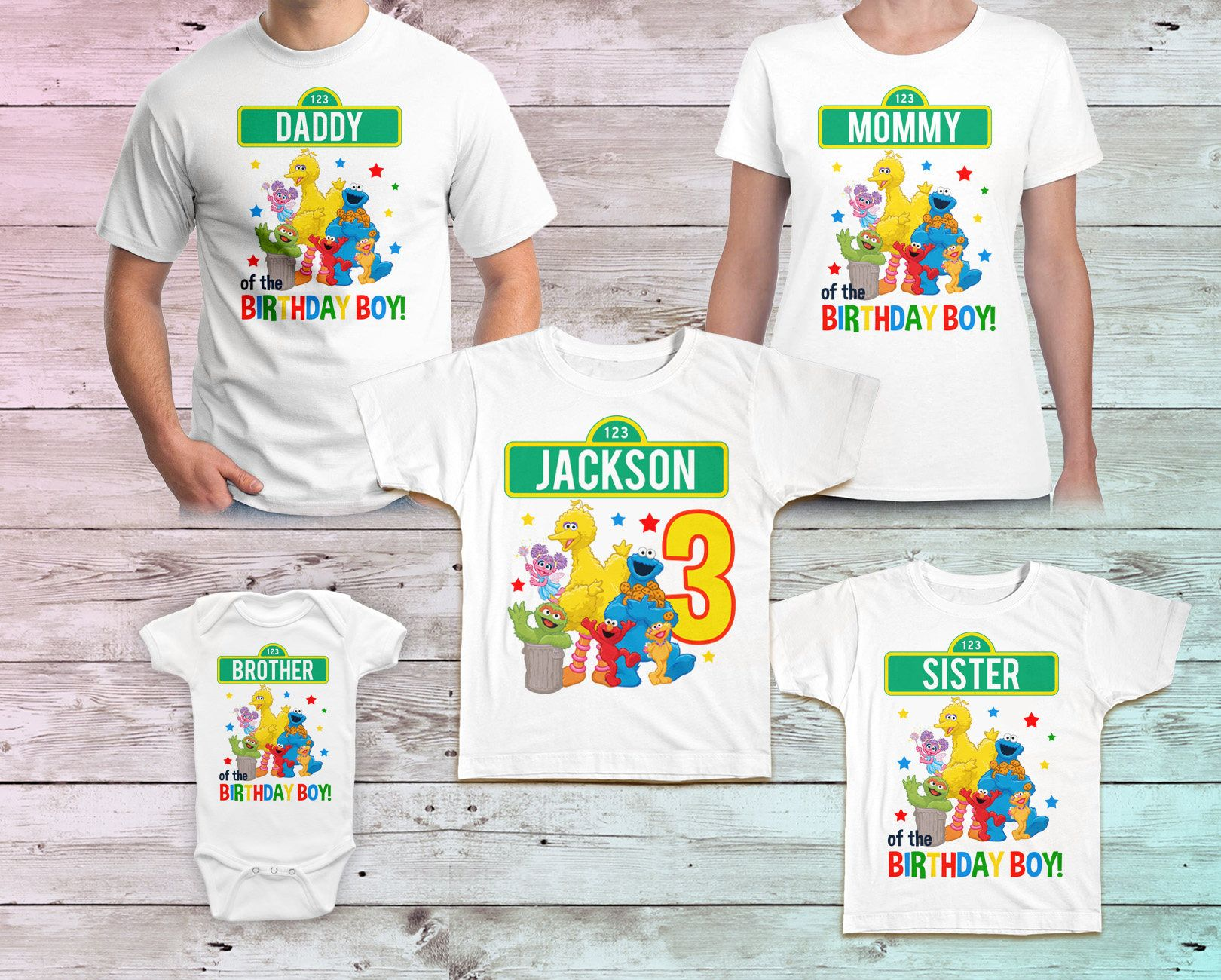 Sesame Street Birthday Shirt, Sesame Street Family Birthday