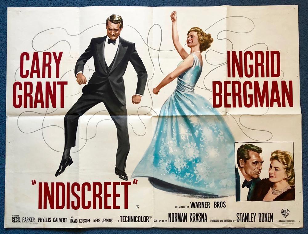 INDISCREET (1958) British UK Quad (With images)   Classic movies ...