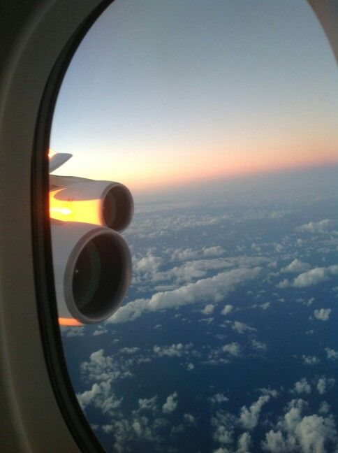 My window view on board Emirates A380-800 on route London ...