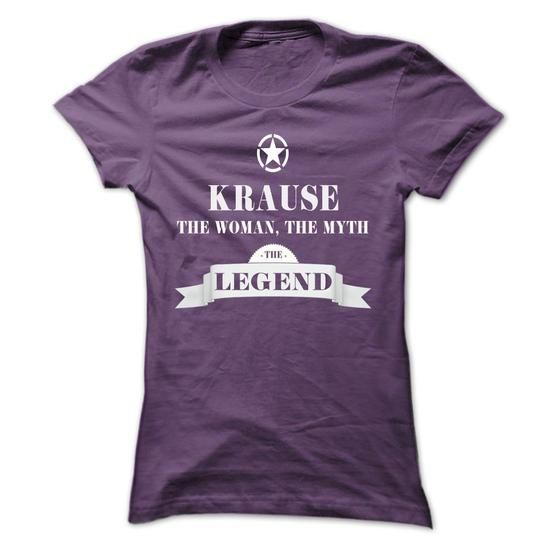 KRAUSE, the woman, the myth, the legend - #baseball tee #white hoodie. LIMITED AVAILABILITY => https://www.sunfrog.com/Names/KRAUSE-the-woman-the-myth-the-legend-isglirxcth-Ladies.html?68278