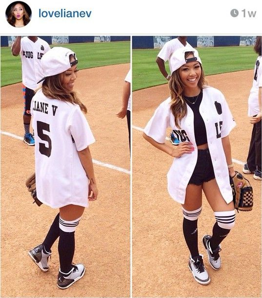 Shirt Baseball Jersey Liane V - Wheretoget | Liane Is Bae | Pinterest | Baseball Jerseys ...
