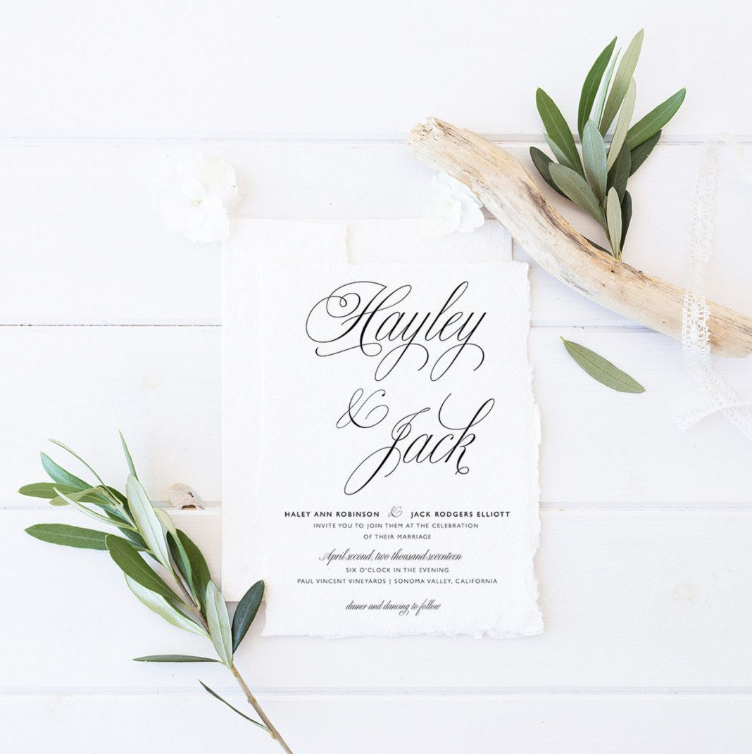 Printable Wedding Invitation Suite Calligraphy Wedding Invite