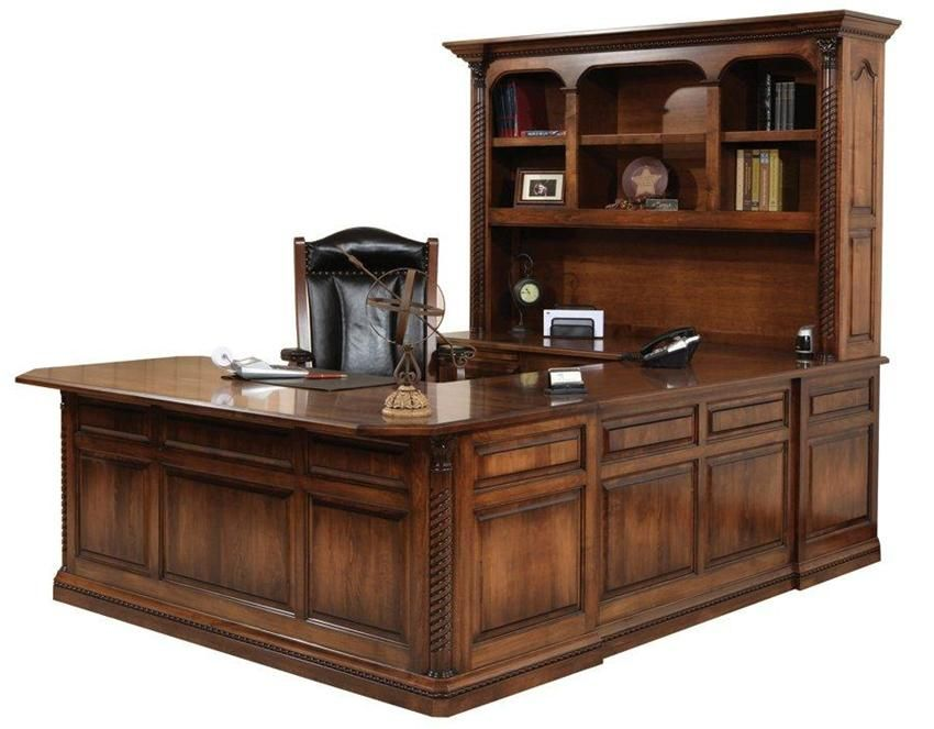 Amish Lexington U Shaped Desk With Optional Hutch Top In 2018