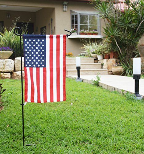 American Flag And Stand Rubber Stopper Anti Wind Clip Metal Wrought Iron Holder Greenwer Garden Flag Stand Flag Stand Outdoor Decor