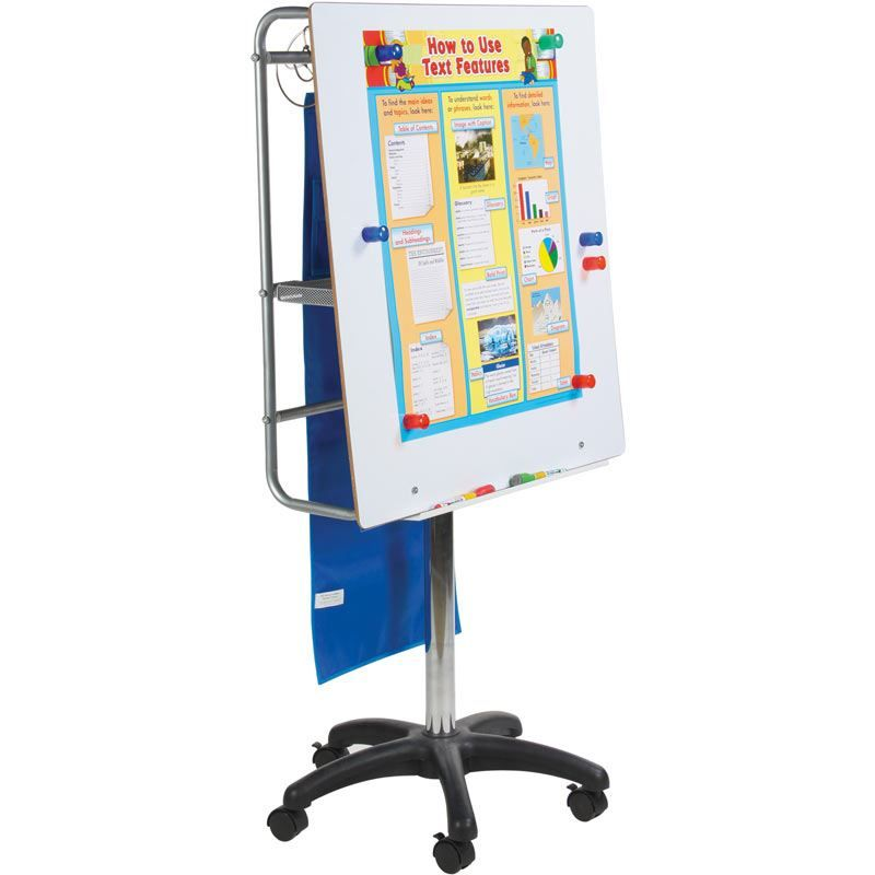 Adjustable height magnetic dry erase board and pocket chart stand also rh pinterest