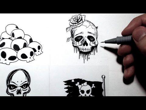 Comment dessiner une t te de mort 4 styles tutoriel inktober youtube anniversaire t te - Comment dessiner une bougie ...
