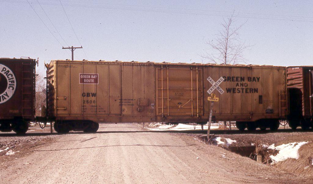 GBW 2506 GBW 2506 50' Boxcar Green Bay & Western Railroad