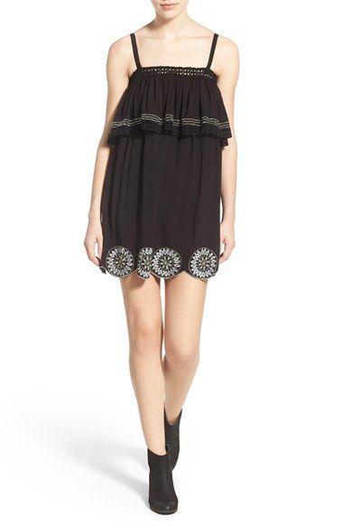 Tularosa 'Desert Moon' Embroidered Popover Dress