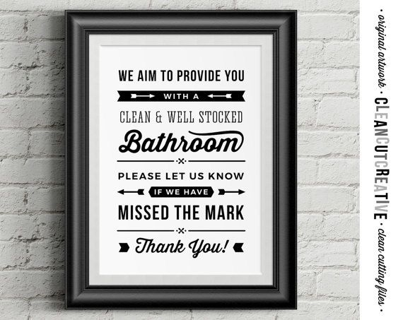 Restaurant Bathroom Signs bathroom sign for business - aim clean needs attention alert staff