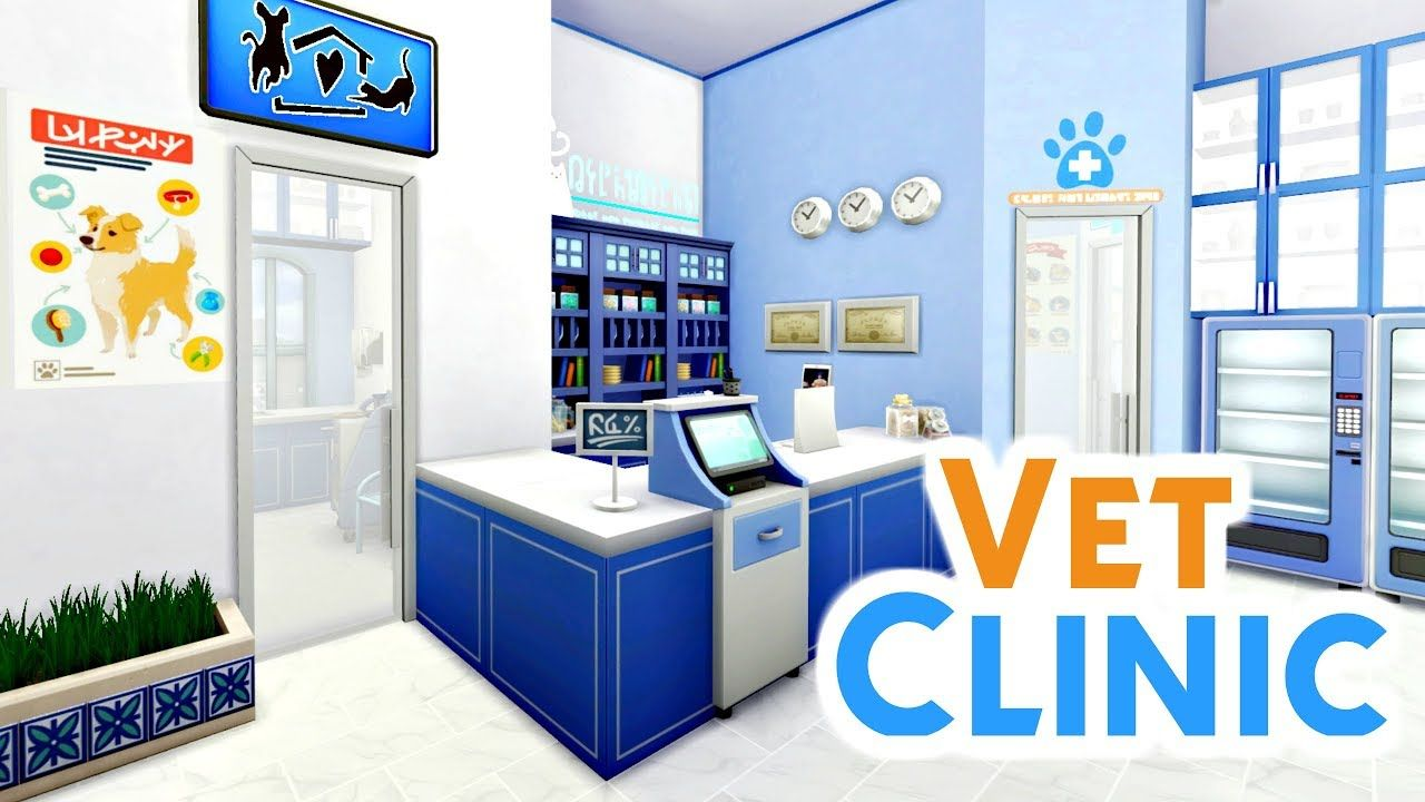 Vet Clinic Sims 4 Speed Build